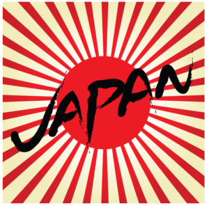 Remembering History picture of Japan flag off the rising sun.