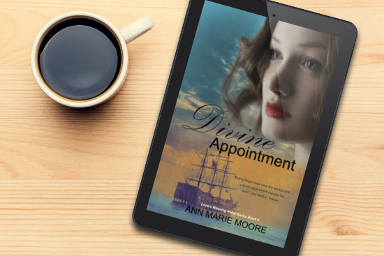 Divine Appointment - LWH series Book 4 Kindle on desk by coffee cup